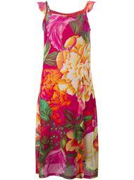 прозрачное платье с цветочным принтом Kenzo Vintage