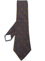 галстук с цепочным принтом Hermès Vintage