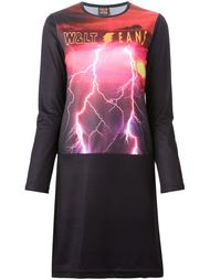 платье с принтом молнии Walter Van Beirendonck Vintage