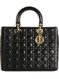 большая сумка-тоут 'Lady Dior' Christian Dior Vintage