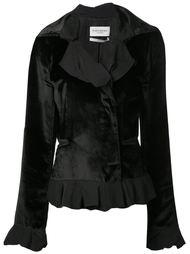 бархатная куртка с рюшами Yves Saint Laurent Vintage