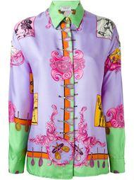 рубашка с узором в виде теннисных ракетов Versace Vintage