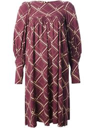 свободное платье в сетку Biba Vintage