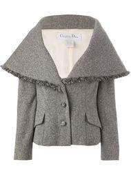 твидовая куртка с массивным  воротником  Christian Dior Vintage