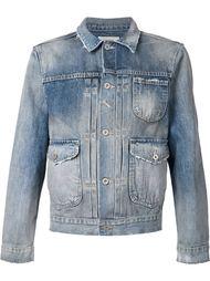 джинсовая куртка с потёртостями Fadeless