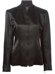 атласная куртка на молнии John Galliano Vintage