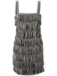 платье на бретельках с бахромой Christian Dior Vintage