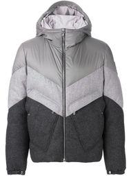 стеганая куртка дизайна колор-блок Moncler Gamme Bleu