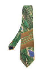 галстук с принтом  Claude Montana Vintage