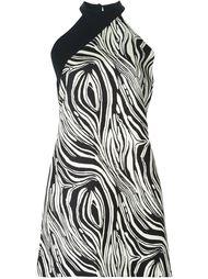 платье с зебровым принтом Fausto Puglisi