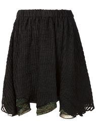 текстурированная юбка с асимметричным подолом Julien David