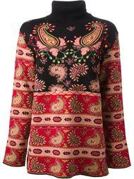 свитер с интарсия рисунком Kenzo Vintage
