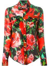рубашка с цветочным принтом Balmain