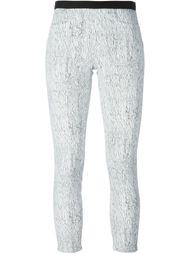 укороченные брюки с принтом Helmut Lang