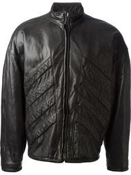 куртка с панельной вставкой в рубчик Versace Vintage