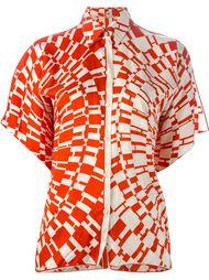 рубашка с принтом логотипа Hermès Vintage