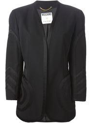 пиджак без воротника Moschino Vintage