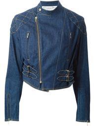 джинсовая байкерская куртка  Christian Dior Vintage