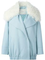 куртка с воротником из овчины Adam Lippes