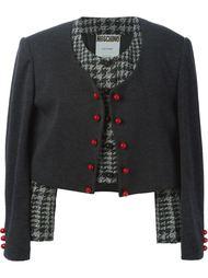 укороченный пиджак '2 In 1'  Moschino Vintage