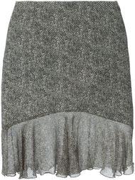 юбка с твидовым эффектом John Galliano Vintage