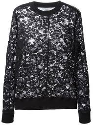 кружевной свитер с цветочным узором Givenchy