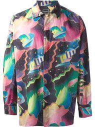 рубашка с узором Versace Vintage