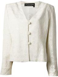 пиджак с фактурой с мотивом ладоней Jean Louis Scherrer Vintage