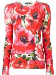 свитер с розами Balmain