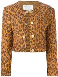 укороченный пиджак с леопардовым принтом Moschino Vintage