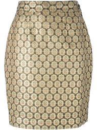 юбка с цветочным жаккардовым узором Moschino Vintage