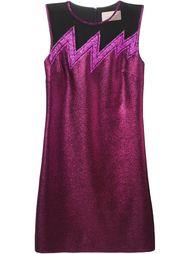 короткое платье с прозрачной вставкой  Christopher Kane