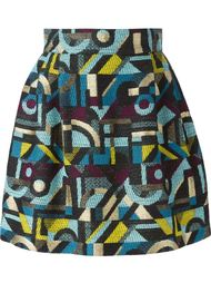 юбка с абстрактным узором Olympia Le-Tan