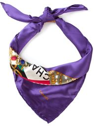 шарф с принтом логотипа Chanel Vintage