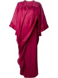 асимметричное платье в пол из шифона Givenchy Vintage