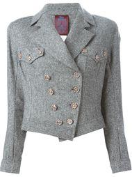 твидовая байкерская куртка  John Galliano Vintage