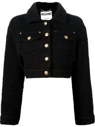 укороченная валяная куртка Moschino