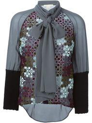 блузка с бантом и вышивкой Antonio Berardi