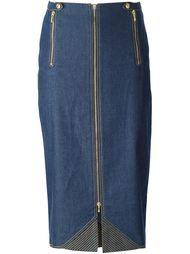 джинсовая юбка-миди Christian Dior Vintage
