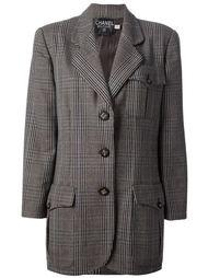 однобортный пиджак на пуговицах Chanel Vintage