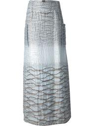 макси А-образная юбка Jean Louis Scherrer Vintage