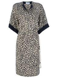 платье-кимоно с принтом в лист Gianfranco Ferre Vintage
