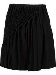 юбка со сборкой сбоку Comme Des Garçons Noir Kei Ninomiya