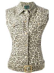 джинсовый жилет с ремнём Jean Paul Gaultier Vintage
