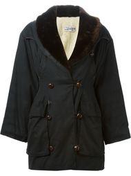 пальто с меховым воротником Jean Paul Gaultier Vintage