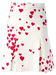юбка с принтом сердец Moschino Vintage