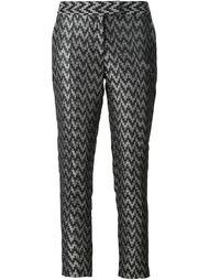брюки с зигзагообразным узором Strateas Carlucci