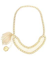 ремень с жемчугом и цепочками Chanel Vintage