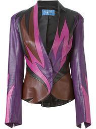 кожаный пиджак с рисунком пламени Thierry Mugler Vintage