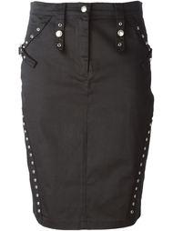 юбка-карандаш с отделкой люверсами Christian Dior Vintage